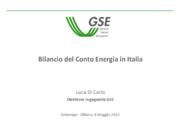 Bilancio del Conto Energia in Italia