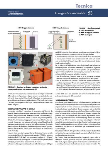 Bioelettricità con celle microbiche: configurazioni e analisi prestazioni