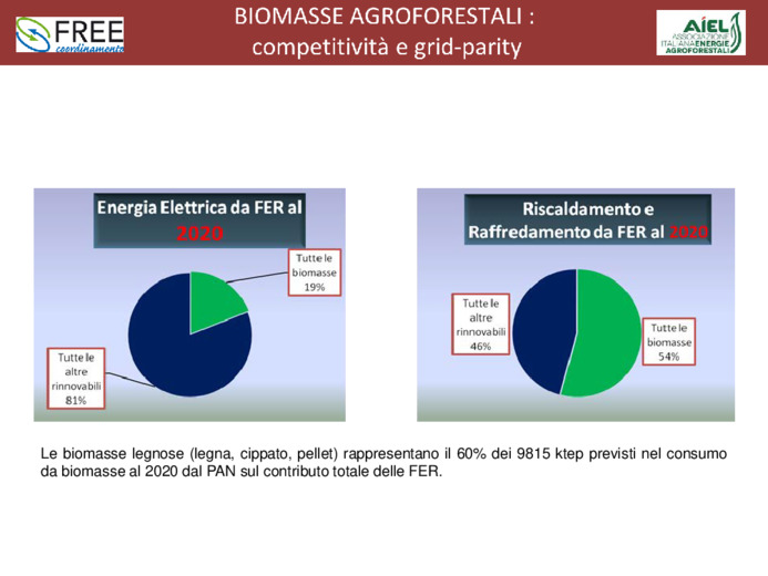 Biomasse agroforestali: competitività e grid-parity