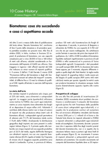 Biometano: cosa sta succedendo e cosa ci aspettiamo accada