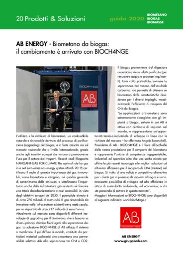 Biometano da biogas: il cambiamento è arrivato con BIOCH4NGE