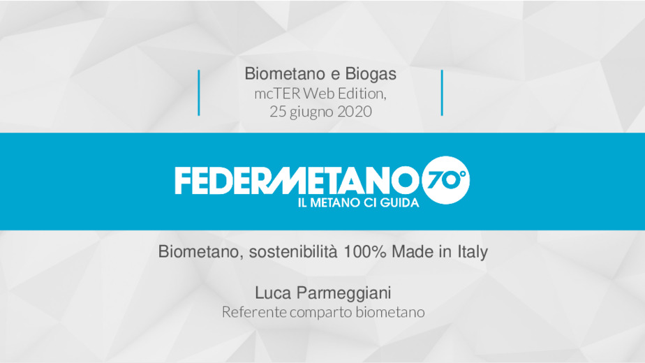 Biometano, sostenibilità 100% Made in Italy