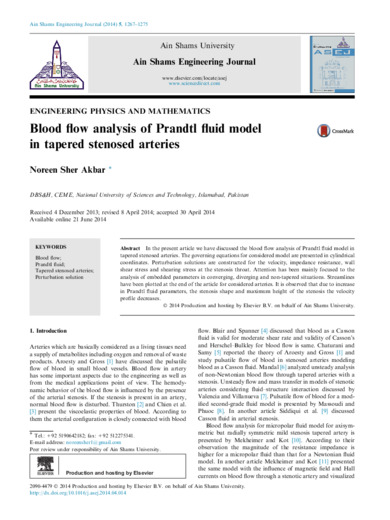 Blood flow analysis of Prandtl fluid model in tapered stenosed