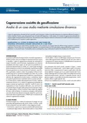 Cogenerazione assistita da gassificazione - Analisi di un caso studio