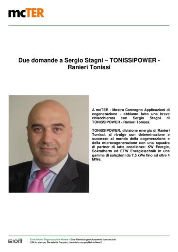 Cogenerazione: due domande a Sergio Stagni - TONISSIPOWER - Ranieri