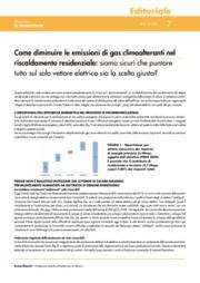 Come diminuire le emissioni di gas clima alteranti nel riscaldamento