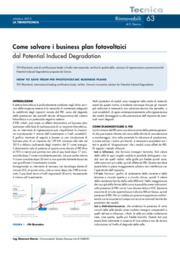 Come salvare i business plan fotovoltaici dal Potential Induced Degradation