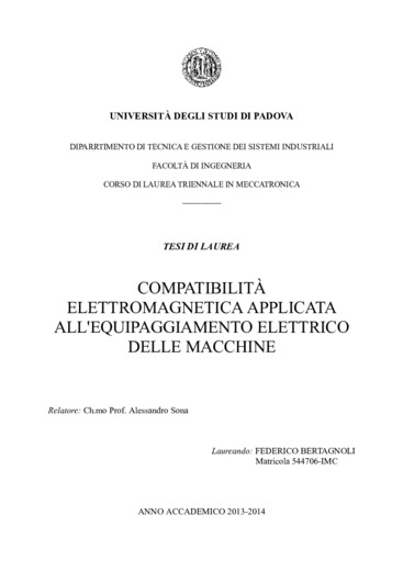 Compatibilità elettromagnetica applicata all