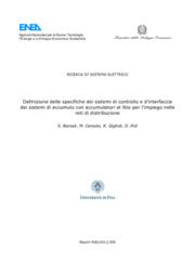 Definizione delle specifiche dei sistemi di controllo e d'interfaccia dei