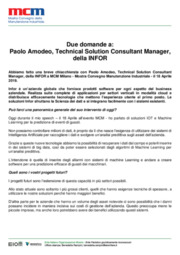 Due domande a: Paolo Amodeo - Technical Solution Consultant Manager