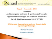 Audit energetico, Diagnosi energetica, Efficienza energetica, Energy manager, LCA
