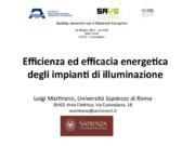 Efficienza ed efficacia energetica degli impianti di illuminazione