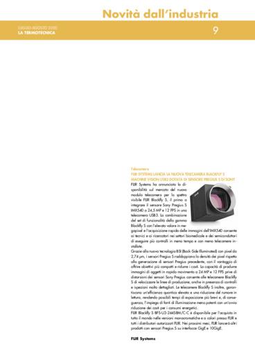 Flir systems lancia la nuova telecamera blackfly s machine vision