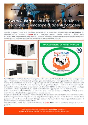 GermiCLEAN: moduli per la sanificazione dell