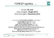 Il progetto FOREST - uno strumento operativo per stimolare la