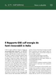 Il Rapporto GSE sull'energia da fonti rinnovabili in Italia