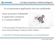 IOT, Edge computing e Artificial intelligence stanno cambiando il panorama