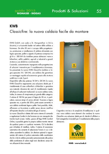 KWB. Classicfire: la nuova caldaia facile da montare
