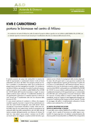 KWB E CARBOTERMO portano le biomasse nel centro di Milano