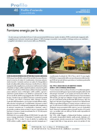 KWB. Forniamo energia per la vita