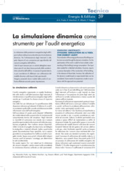 Audit energetico, Diagnosi energetica, Efficienza energetica, Termotecnica