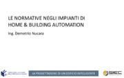 Building automation, Consumi energetici, Efficienza energetica