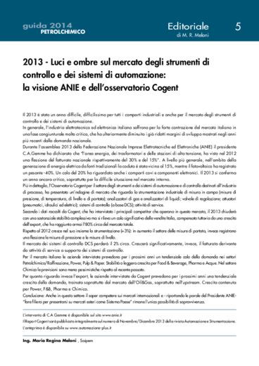 2013 - Luci e ombre sul mercato degli strumenti di