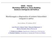 Monitoraggio e diagnostica di sistemi fotovoltaici integrati in edifici