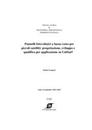 Pannelli fotovoltaici a basso costo per piccoli satelliti: progettazione e