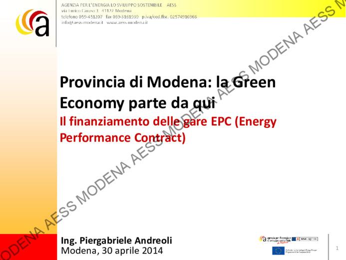 Provincia di Modena: la green economy parte da qui