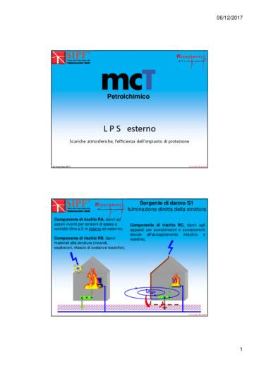 Scariche atmosferiche in ambiente petrolchimico, l'efficienza dell'impianto di protezione.