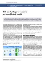 Sfide tecnologiche per la transizione eco-sostenibile della mobilità