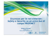 Bus di campo, Ethernet, Profibus, Profinet, Safety