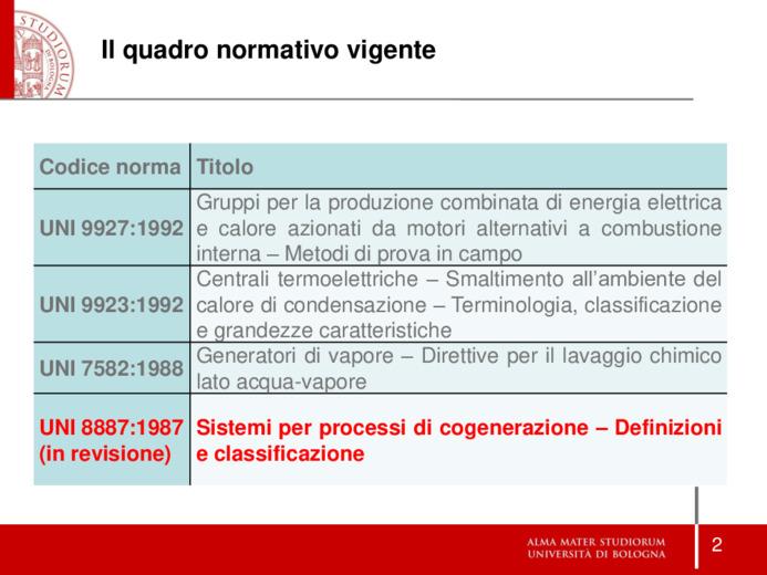 Sistemi di cogenerazione e indici caratteristici. La nuova norma UNI