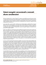Sistemi energetici convenzionali e avanzati: alcune considerazioni