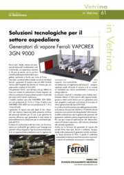 Soluzioni tecnologiche per il settore ospedaliero. Generatori di vapore Ferroli