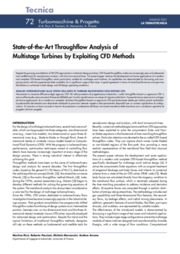 State-of-the-Art Throughflow Analysis of  Multistage Turbines by Exploiting CFD