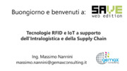 Blockchain, IoT,  internet of things, Logistica, rfid, Robot, Sensoristica, Tracciabilità