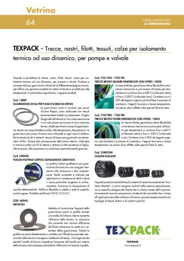Trecce, nastri, filotti, tessuti, calze per isolamento termico ad uso