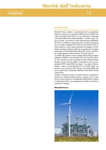 Una business unit per le turbine a gas a ciclo