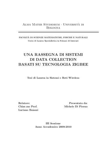 Una rassegna di sistemi di data collection basati su tecnologia